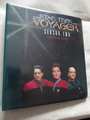 Star Trek Voyager - Season 2  Trading Card Set  + Binder  Complete