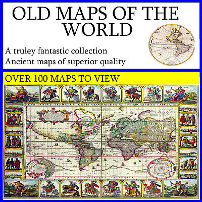 Old Maps Of The World ,  Geography , Ancient maps, History , Globe , Educational