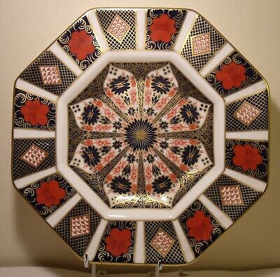 "9"" Royal Crown Derby 1128 Imari Octagonal Plate First Quality"