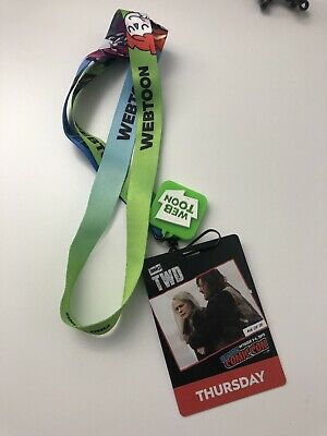 2019 New York Comic Con Souvenir Pass And Lanyard Not Valid For Admission
