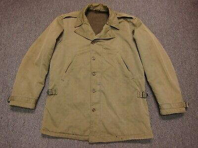 VTG 40s Original WW2 US Army M-41 Arctic Field Jacket Khaki 40 42 ? Talon Zipper