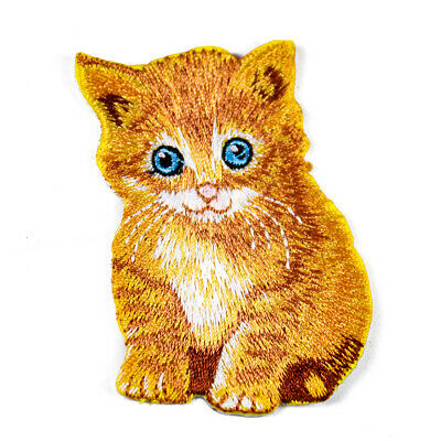 2PCs Embroidery Two Cats Cloth Patch Iron On Sew Motif Applique Patch Gift ♫