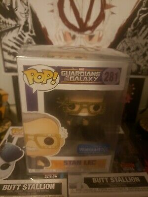 Funko Pop Stan Lee Guardians of the Galaxy Walmart Exc #281 w/ Pop Protector
