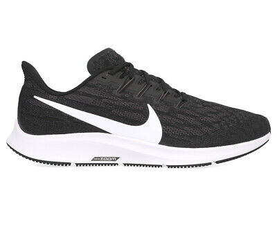 Nike Men's Air Zoom Pegasus 36 Running Shoes - Black/White-Grey
