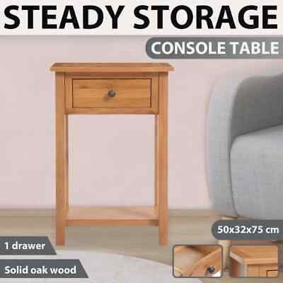 vidaXL Solid Oak Wood Console Table Brown Home Furniture Telephone Stand Desk