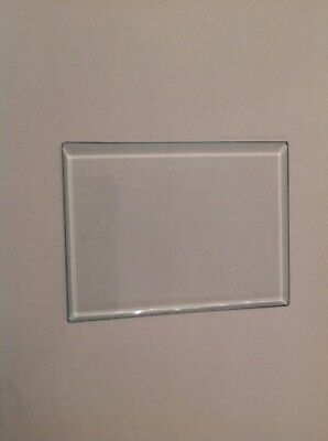 Carriage Clock Glass Bevelled Rectangle  73mm 55mm