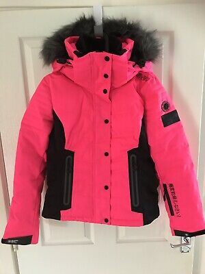 NEW WOMENS SUPERDRY Snow Puffer Jacket White EUR 135,48