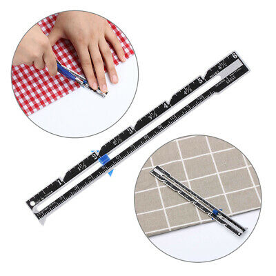 Patchwork Quilting Tailor Ruler Seam Ruler Measuring Gauge Sewing Accessories