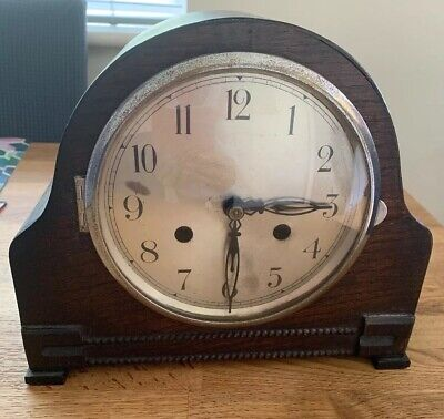 Antique Clock Mantel Wooden Chime