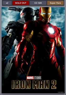 Topps Marvel Collect Marvel Studios 1st 10 Years Movie Poster Iron Man 2 Digital