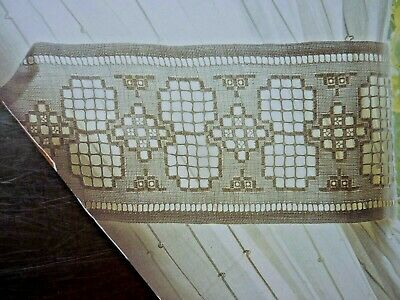 3319]Hardanger Chart- Beautiful Pattern Applied to Curtain Tie Back