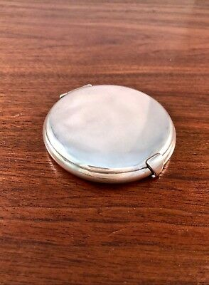 Large Charles Thomae Co. Sterling Silver Compact: No Monogram
