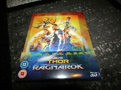 Marvel Thor Ragnarok - Zavvi Lenticular Steelbook 3D+Bluray RARE Sold Out SEALED
