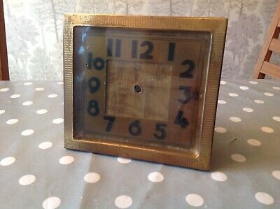 Vintage Brass CSM Alarm Clock Case No Movement To Restore Or Repurpose 140x130mm