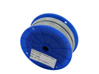 "3/8"" ( 7x19 ) Galvanized Aircraft Cable- Reels 250'"
