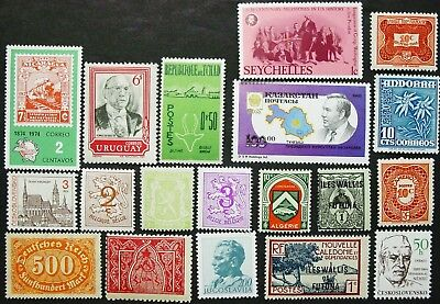 Worldwide Stamp Collection, 19 Stamps, MNH