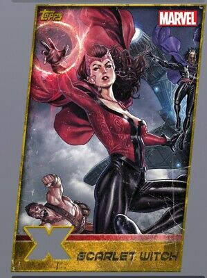Topps Marvel Collect XMen Weekly Gold Die Cut Scarlet Witch Digital