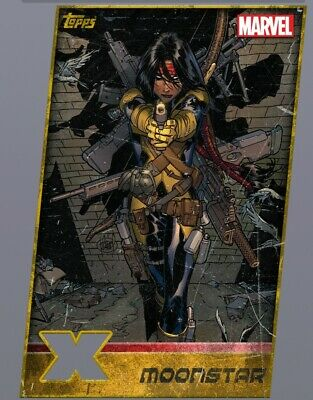 Topps Marvel Collect XMen Weekly Gold Die Cut MoonStar Digital