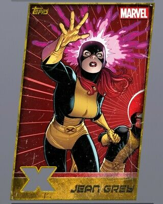 Topps Marvel Collect XMen Weekly Gold Die Cut Jean Grey Digital