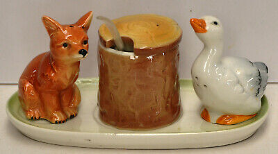 Fox & Duck Salt & Pepper - W Goebel, West Germany
