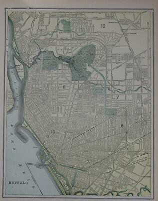 1900 Buffalo, NY Antique Color Atlas Map** 119 years-old!