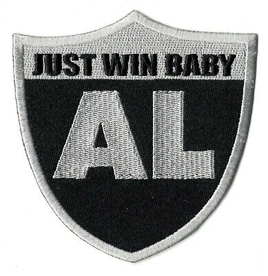"🔥4"" OAKLAND RAIDERS AL DAVIS JUST WIN BABY Iron-on Jersey PATCH! Raider Nation"