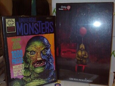 Pennywise IT Chapter Two & Creature Black Lagoon Sealed Puzzle Set Halloween $28