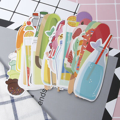 30pcs/box Vintage Soft Drink Ice Creams Summer Bookmark Paper Stationerys School
