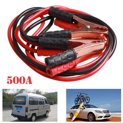 500A 2M Car Van Emergency Ignition Jump Starter Leads Wire Battery Booster Cable