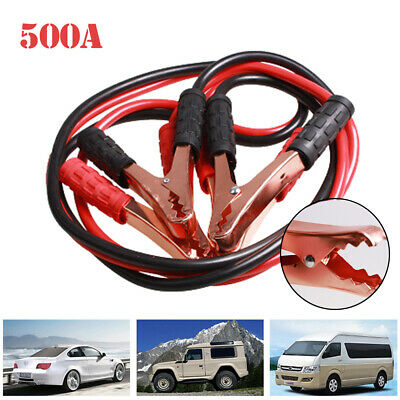 1x Car Van Jump Starter Leads Wire Battery Booster Start Cable 500A 2m Emergency