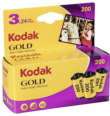 3 Rolls Kodak Gold 200 Film - 35mm, 24 Exposures, expiration 10/2019