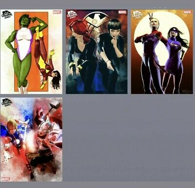 Topps Marvel Collect Card Trader Heroines Marvel Artwork Duos Murray 4 Card Set