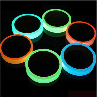 Luminous Tape Waterproof Self-adhesive Glow In Dark Safety Stage Home Decor ~GN