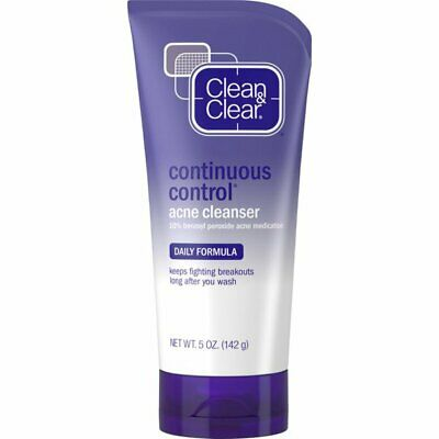 Clean & Clear Continuous Control Acne Daily Facial Cleanser 5 Ounce, 6 Pack