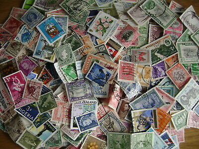 British Empire & Commonwealth off-paper Stamp Mix - 25 grams / 400 stamps  10/19