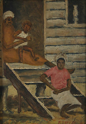 Depression Era African American Sharecroppers South Carolina Oil Painting Bryan