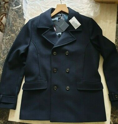 Clothes Shoes Accessories New, Ted Baker Ossain Herringbone Peacoat