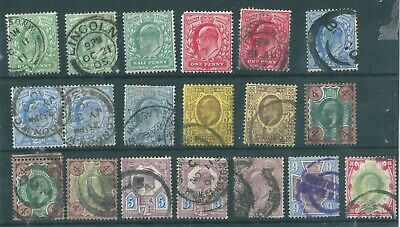 1902 GB Collection of King Edward VII Stamps  CDS /MINT PAIR  - c/v £320+