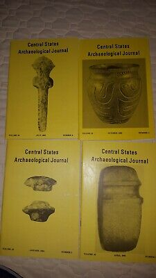 1995 Central States Archaeological Journal Vol 42 No 1,2,3,4 Arrowheads