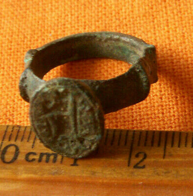 A320. Medieval style bronze seal ring