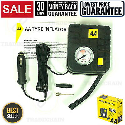 Tyre Inflator, Compact, Lightweight Pump Air Compressor 12V Cigarette Car Socket