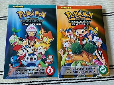 Pokemon Diamond & Pearl Platinum Manga Vol 1 & 2 Hidenori Kusaka