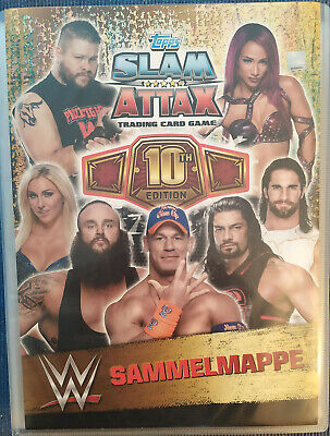 WWE WWF 2017 Topps Slam Attax 10 th Edition Trading Card Set