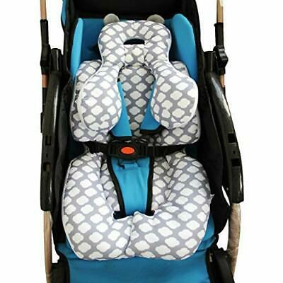 Infant Car Seat Insert, KAKIBLIN Cotton Baby Stroller Liner Head and (Cloud)