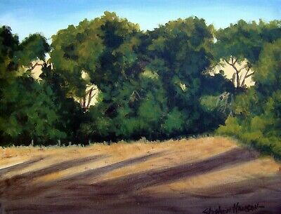 (FREE SHIPPING/REDUCED ) Original Kansas Wheat field landscape oil painting