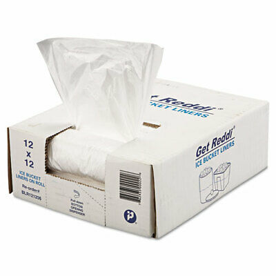 "Ice Bucket Liner Bags, 3 qt, 0.5 mil, 6"" x 12"", Clear, 1,000/Carton BL060612  -"