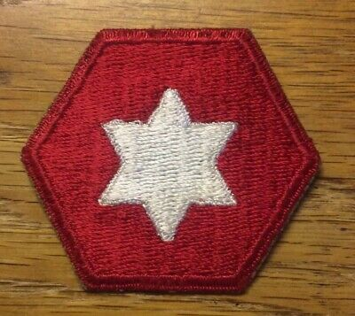 ORIGINAL WWII ERA - US 6th ARMY (OLD) PATCH CUT EDGE - WORN