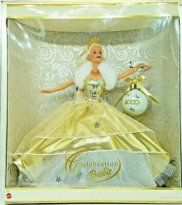 Barbie Holiday Celebration Doll Special Edition 2000 NRFB Doll White Gold Blonde
