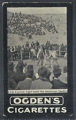 Ogdens Tabs-Series F-#F238- Boxing - Prize Fight American Frontier