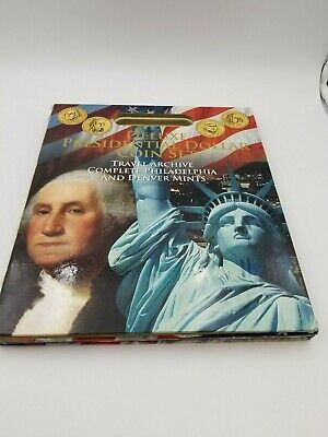 Whitman Deluxe Fancy US Presidential Dollar Coin Set Book Travel Archive Display